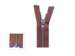 YKK Anorak Reißveschluss Metall Silberkette