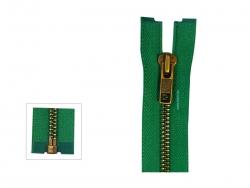YKK Jacken-Reißverschluss Metall (Brüniert, 30 cm bis 120 cm)